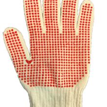 دستکش خالدار بافتنی یکرو