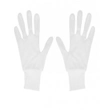 دستکش نخی سفید مچ کش دار