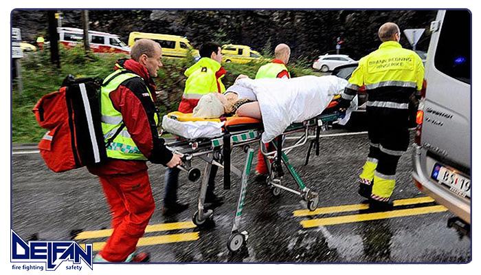 اصول بلند کردن مصدوم در حمل مصدوم در حوادث